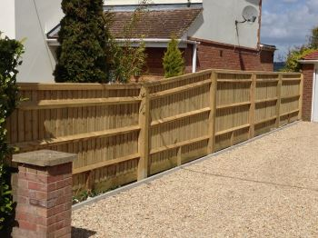 1.5m to 1.8m close board fencing
