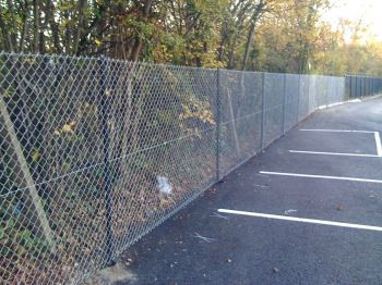 1.8m galvanised chainlink fencing. (3)