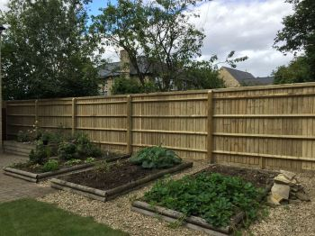 2.1m close board fencing with 4 rails