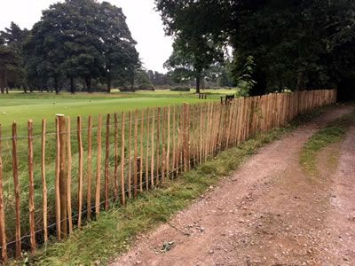 Chestnut Paling Fence in Tubney, Oxfordshire
