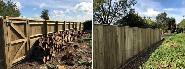 Close board fence and gate in Bicester, Oxfordshire