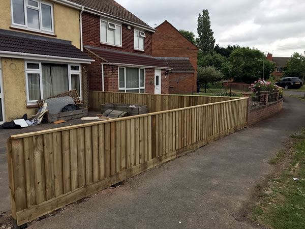 Close board fencing at a house in Abingdon