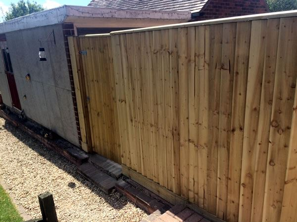 Close board fencing in Didcot