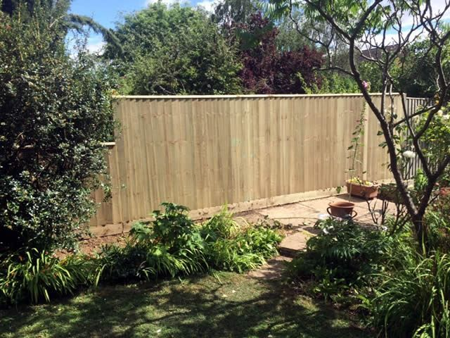 Close board fencing Eynsham