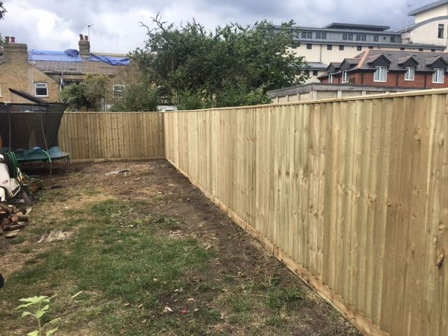 Close board fencing in headington