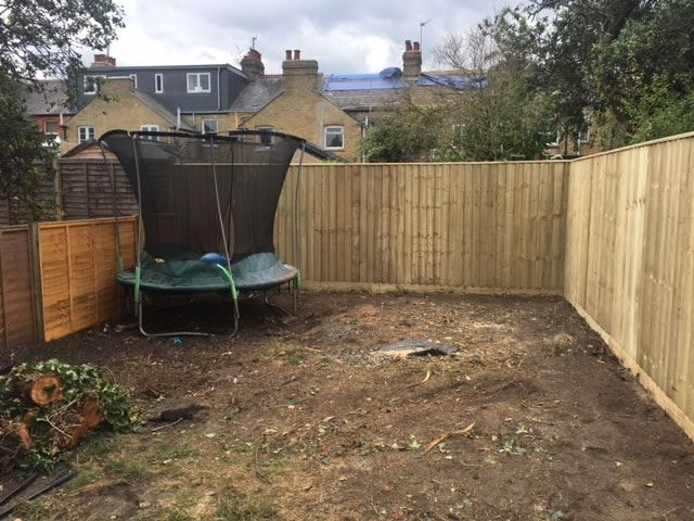 Close board fencing in Headington, Oxford