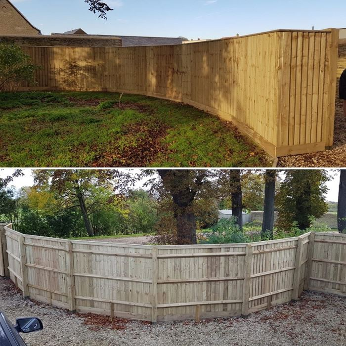 Curved fence panels