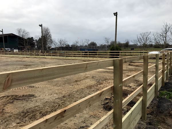 Fencing around a horse manege in Eynsham