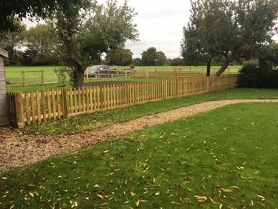 Fencing around paddock in Aston, near Witney