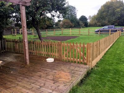 Post & Rail Fencing Corner Aston