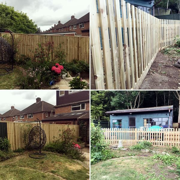 Fencing at house in Kennington, Oxford
