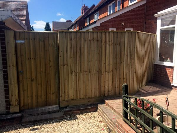 Front view - close board fencing in Didcot