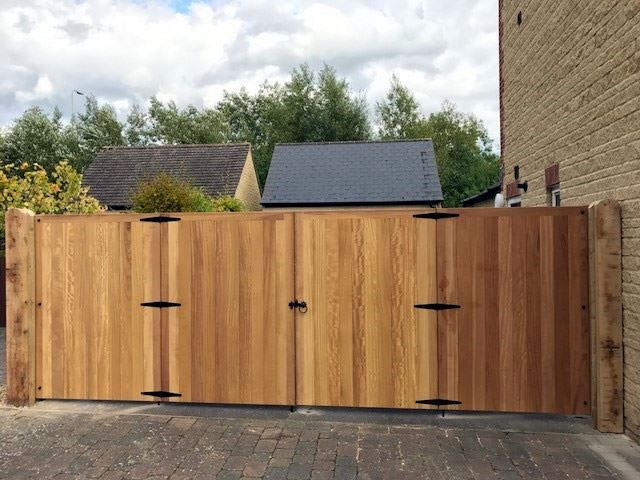 Iroko hardwood gates in Witney