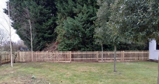 Dog-proof picket fencing