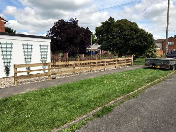 Post and rail fencing in Abingdon