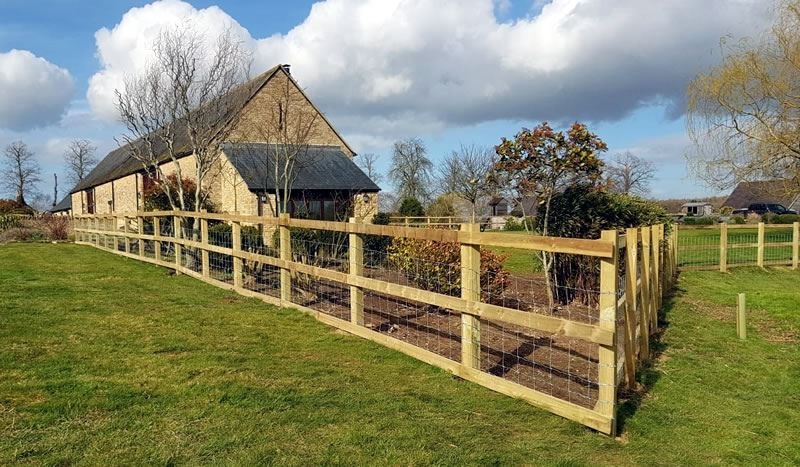 Post and rail fencing in Faringdon
