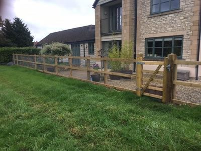 Post & Rail fencing in Aston, Witney