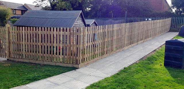 School fencing at primary school in Cowley
