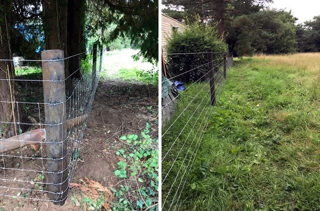 Stock-fencing in Frilford, Abingdon