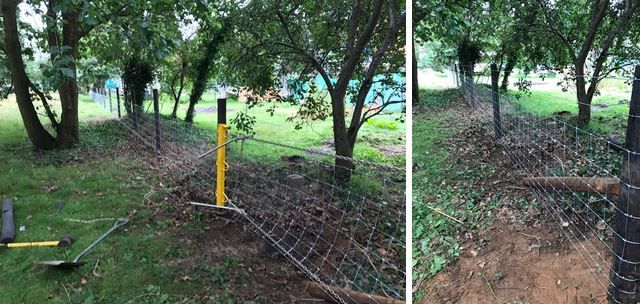 Installing stock fencing in Abingon