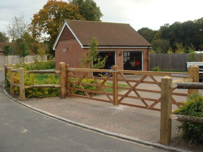 Iroko hardwood field gates