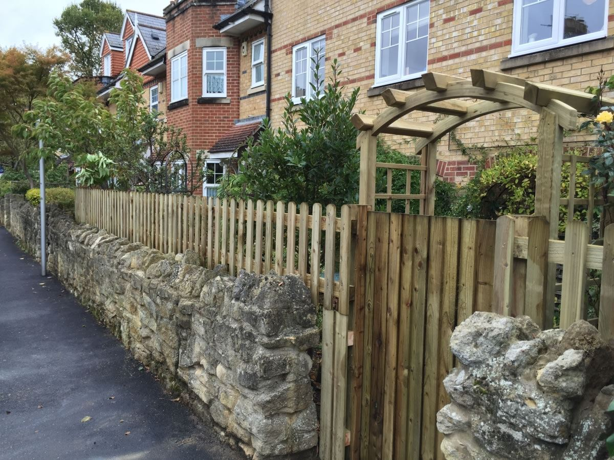 Timber Palisade Fencing