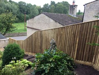 Fencing on a steep garden