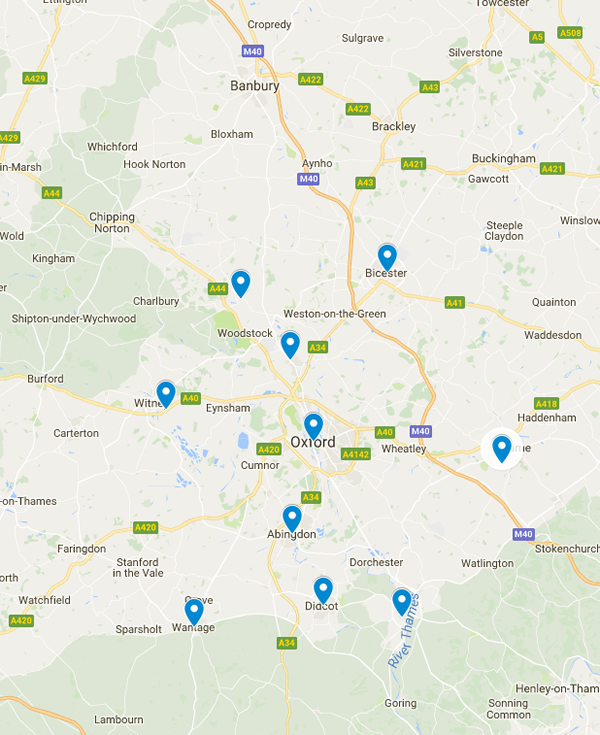 Oxfordshire Service Area for Trentwood Fencing